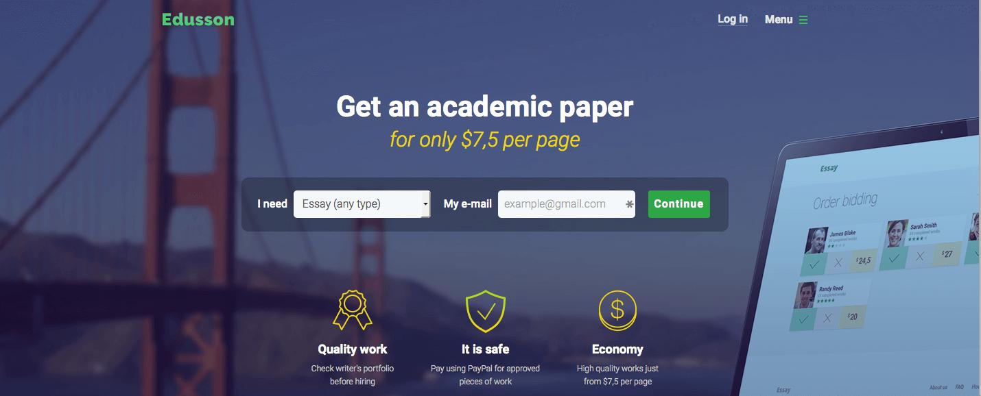 Edusson.com Essay Writing Servise Review